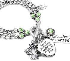 Mother of the Bride Heart Bracelet