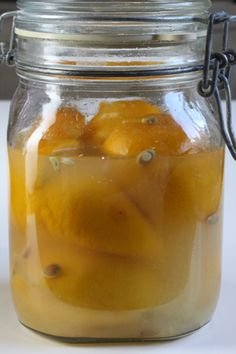 Week 2: The lemons are softening, and exuding their juice.