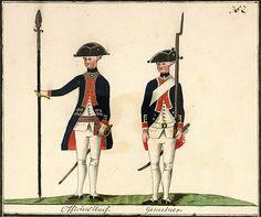 Regiment von Jung Losberg: Officiers Unif[orm]. Gemeiner.