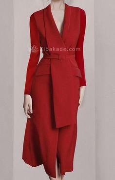 Peplum Dress, Wrap Dress, Bodycon Dress, Elegant Dresses, Formal Dresses, Prom Dresses Long With Sleeves, Red Blazer, Office Dresses, Business Dresses