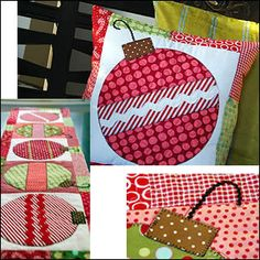 Cute ornament pillow and table runner