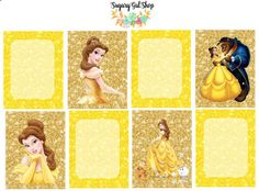 Beauty and the Beast Sticker Set by SugaryGaLShop on Etsy