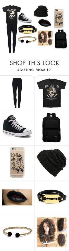 """Fall Out Boy Outfit  [We Like It Too collection]"" by the-0ne-and-0nly on Polyvore featuring Converse, Casetify, Leith, McQ by Alexander McQueen and David Yurman"