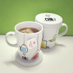 Chá com tampa