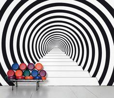 """Wall stickers : Domestic ® vente de stickers muraux, autocollants muraux, sticker décoratif, décors muraux, décoration d'intérieure, sticker...""""Down the rabbit hole)"""
