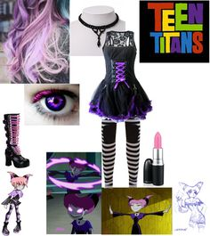 """Teen Titans: Jinx"" by crystalline-switchblade ❤ liked on Polyvore"