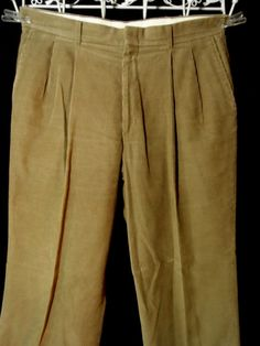 Mens Pleated Corduroy Pants