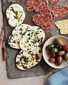 The best things in life are cheese. Marinated cheese recipes you need in your life: Herbed Goat Cheese Balls, Mozzarella Marinated in Herbs and Red Pepper Flakes, Spicy Marinated Feta, Italian-Marinated Colby Jack with Olives, Marinated Bocconcini (mini mozzarella balls with lemon, garlic and peppercorns), Marinated Greek Yogurt (yep, it's a thing!)