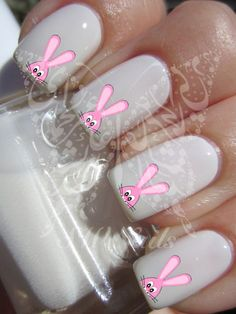 Easter Nail Art Bunny Water Decals Nail Transfers Wraps