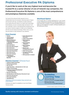 Professional Executive PA Diploma with Pitman Training Waterford