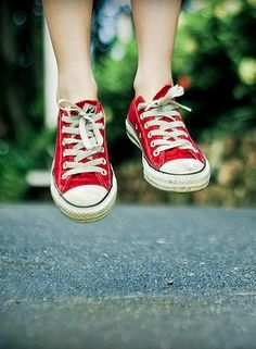 <3 Red Converse <3