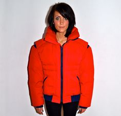GOOSE DOWN Insulated 1980s Vintage Puffy Ski JACKET By by louise49, $110.00