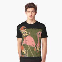 Canvas Prints, Art Prints, My T Shirt, Funny Design, Gnomes, Flamingo, Chiffon Tops, Classic T Shirts, Printed