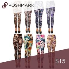 """Leggins J. Ann Ladies Printed Leggings ( face prints) SKU #1995268  J. Ann 8-Pack Ladies Printed Leggings (face prints)  Fun and fashionable these leggings are perfect to pair them with a long T-shirt.  Color: Refer for Picture for colors (8 Colors)- will receive 1 Piece of each color Size Fits Small, Medium Waist: 24""""-36"""" - Inseam: 24"""" - Outseam:34"""" Material: Nylon/ Spandex. Soft and very comfortable! Slight color difference due to lighting. Machine-washable, hand wash recommended, no…"""