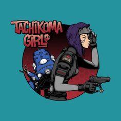 Tachikoma Girl T-Shirt by @pigboom  #tachikomagirl #major #ghostintheshell #movies #anime #tankgirl #tshirts
