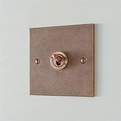 1 Gang Copper Dolly Switch with Heritage Copper Bevelled Plate Light Switch Plates, Light Switch Covers, Rustic Feel, Modern Rustic, Copper Lighting, Copper Decor, Designer Light Switches, Copper And Marble, Backyard Studio