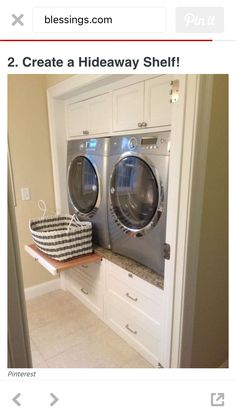 Perfect for laundry..pull out folding table too!