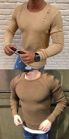Men's casual simple fashion sweaters for fall and winter, comfortable matereial and high quality out Business Casual Men, Business Outfits, Men Casual, Mens Long Cardigan, Men Sweater, Latest Fashion Clothes, Fashion Outfits, Pullover Mode, Mens Clothing Styles