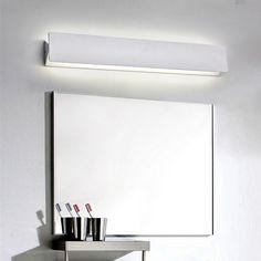 simple hierro moderna lmpara de pared antiniebla impermeable espejo de luz led de pared para el
