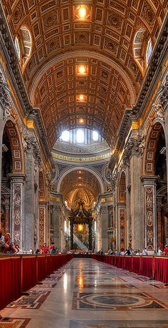 Peter's Basilica, Vatican City - Rome (HDR) is the largest church in the world. It is not a cathedral. Places Around The World, Oh The Places You'll Go, Places To Travel, Travel Stuff, Beautiful Buildings, Beautiful Places, Visit Rome, Le Vatican, Voyage Rome