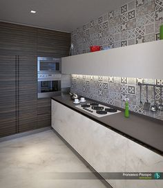 #kitchen #design #rendering project by Architetti PD rendering by FRANCESCO PISCOPO_architetto