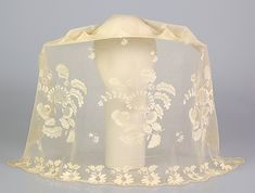 Wedding veil Date: 1846 Culture: British Medium: Silk Credit Line: Brooklyn Museum Costume Collection at The Metropolitan Museum of Art, Gift of the Brooklyn Museum, Gift of Sarah F. Milligan and Kate Milligan Brill, 1940 Accession Number: Vintage Bridal, Vintage Lace, Vintage Dresses, Vintage Outfits, Antique Clothing, Historical Clothing, Victorian Fashion, Vintage Fashion, Costume Collection
