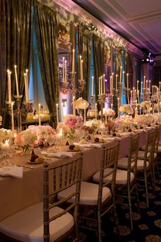 This picture literally took my breath away. Whim and romance have never looked so beautiful as in this stunning wedding reception. From the lighting and lounges all the way down to the monogrammed napkins, this wedding blows me away. @Mindy Weiss