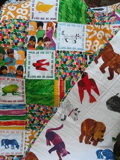 Brown Bear, Brown Bear, what do you see?  I see an adorable quilt looking at me!