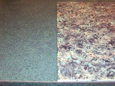 (Before) formica counter - (After) Faux Granite Faux Finish Paint Technique...created by Fauxkissed