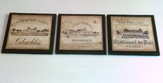 4 Wine Crate Label style Kitchen Wall Decor Plaques Tuscan French European theme pictures, Italian Tuscany