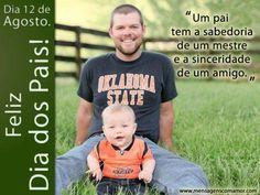 Um pai tem a sabedoria de um mestre e a sinceridade de um amigo. #diadospais #pais
