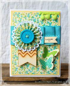 Hilary Scraps - cute butterfly card