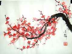 Japanese Cherry Blossom Art