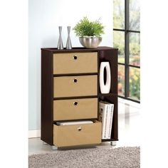 Furinno 11159EX/BR (99998E) Multipurpose Storage Shelves Cabinet Dresser with 4 Bin-Type Drawers, Espresso Finish null http://www.amazon.com/dp/B004UMAWXY/ref=cm_sw_r_pi_dp_B6MQtb06F5HJV7EX