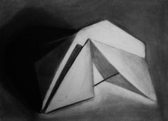 Charcoal Origami Still Life