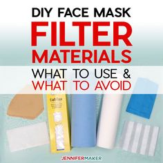 DIY Face Mask Filter Materials: What to Use, What to Avoid - Jennifer Maker - Learn the pros and cons of various types of materials and fabrics currently being used in face mask - Easy Face Masks, Homemade Face Masks, Diy Face Mask, Masque Facial Diy, Diy Masque, Saved Pages, What To Use, Maker, Sewing Hacks