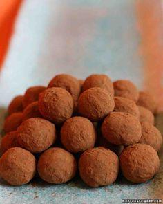 Perfect Chocolate Truffles, Martha Stewart recipe