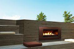 SUPPLIER  - ESCEA Outdoor Gas Florentine Bronze Fireplace - Ferro Front contemporary fireplaces $4k