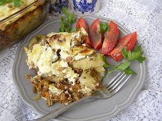 W Mojej Kuchni Lubię.. : ziemniaki z kurkami z piekarnika na syty obiad...