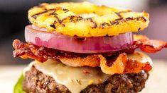 Pineapple Bun Burgers - Delish.com