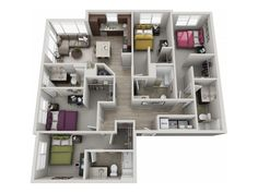 303 Flats offers 8 floor plan options ranging from 1 to 4 Bedrooms Sims House Plans, House Layout Plans, Modern House Plans, House Layouts, House Floor Plans, House Floor Design, Sims House Design, Home Design Floor Plans, Home Building Design