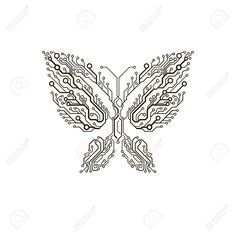Image taken from Google. Circuit board butterfly. Circuit Board Tattoo, Circuit Board Design, Leaf Symbol, Wall Painting Decor, Skin Art, Surface Design, Tattoo Inspiration, Amazing Art, Butterfly