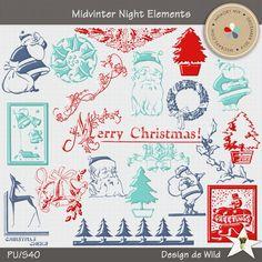 Midwinter Night Elements | Designs de Wild