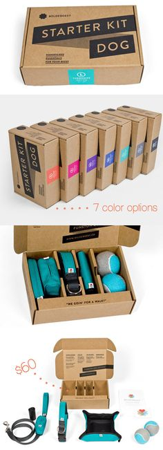 Minimal, recyclable packaging AND everything you need to start your new life as a dog owner.