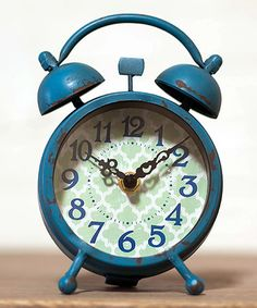 Love this Blue Metal Table Alarm Clock on #zulily! #zulilyfinds