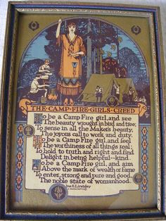Camp Fire Girl Creed by StampFireGirl, via Flickr