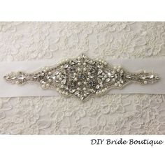 Rhinestone applique,  couture crystal applique, wedding applique,  beaded patch for DIY wedding sash, bridal accessories