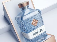 Today I'd like to share a project that's really dear to me - with Connal's Gin I took charge of every branding aspect, from logo to the shape and style of the bottle. What do you guys think? Beverage Packaging, Bottle Packaging, Brand Packaging, Packaging Design, Coffee Packaging, Food Packaging, Label Design, Design Design, Branding Design