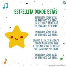 Preschool Spanish, Spanish Lessons For Kids, Learning Spanish For Kids, Spanish Language Learning, Kids Learning, Baby Lyrics, Baby Songs, Kids Songs, Preschool Social Skills