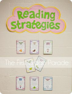 Reading Strategies posters - free from The First Grade Parade